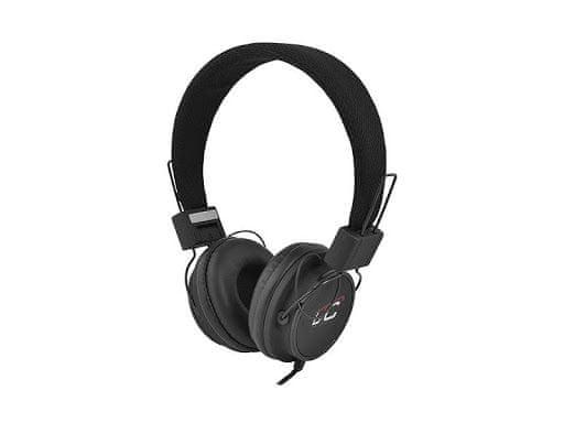 LTC Slušalke naglavne 3,5mm črne 1,2m