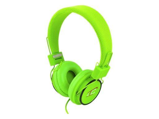 LTC Slušalke naglavne 3,5mm zelene 1,2m