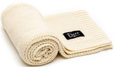 Eseco pleteni pokrivač, cream