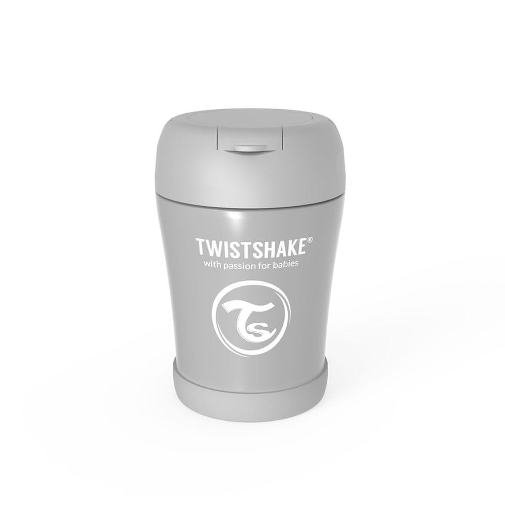 Twistshake Termoska na jídlo Pastelově šedá