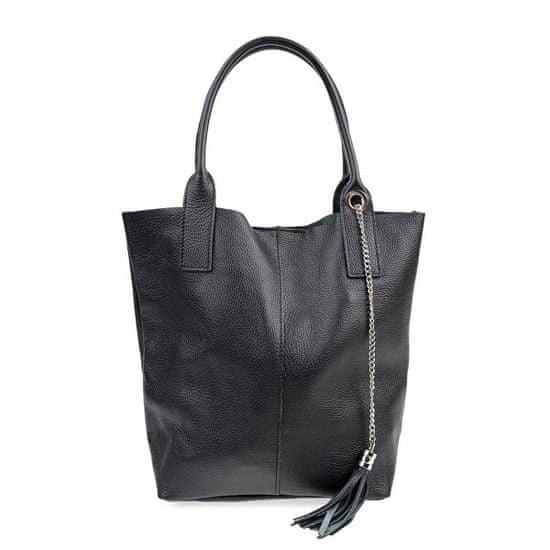 Carla Ferreri Ženska usnjena torbica AW20CF1619 Nero