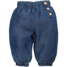 PINOKIO dívčí kalhoty Petit Lou 68 modrá