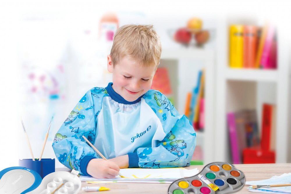 Pelikan Dětská zástěrka s rukávky pro kluky Pelikan