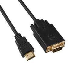 PremiumCord Kabel s HDMI na VGA převodníkem, délka kabelu 2 m khcon-50
