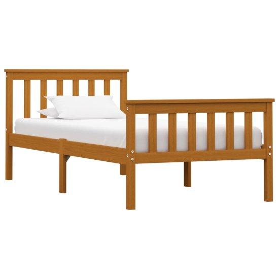 shumee Rama łóżka z 2 szufladami, miodowy brąz, sosna, 100 x 200 cm