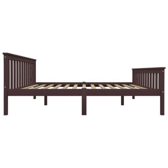 shumee Rama łóżka z 4 szufladami, ciemny brąz, sosna, 160 x 200 cm