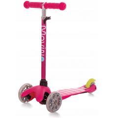 Movino Otroški tri kolesni skiro MINI SCOOTER z lučkami v kolesih, roza H-005-RU