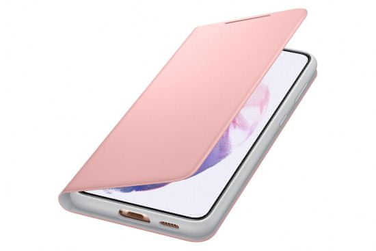 Samsung Galaxy S21 Plus LED View Cover Pink ovitek, preklopni, roza