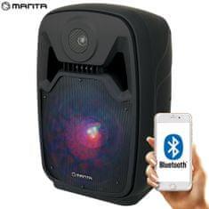 Manta SPK5100 karaoke zvočni sistem, prenosni, vgrajena baterija, BT 5.0, USB/MP3, LED lučke, Radio FM - Odprta embalaža
