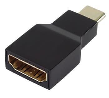 PremiumCord Převodník USB-C na HDMI, rozlišení 4K a FULL HD 1080p, pozlacené konektory ku31hdmi12