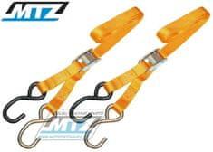 MTZ Popruhy/Kurty upínací 25mm - žluté (1499) 84-01805