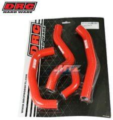 DRC Hadice chladiče Honda CRF250R / 18-21 + CRF250RX / 19-21 - červené (sada 4ks) (df4701153) DF4701153