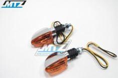 MTZ Blinkry Mini (tvar šipka/slza) - barva chrom s oranžovým krycím sklem (1560) 84-MIR7010