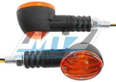 MTZ Blinkry Mini kulaté - černé s oranžovým krycím sklem (619-92400-02e-vodoznak) 84-MIR7008