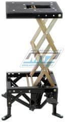 MTZ Stojan motocyklový hydraulický nůžkový dílenský (nosnost 160kg / deska 38x30cm) (mod9) MOD9