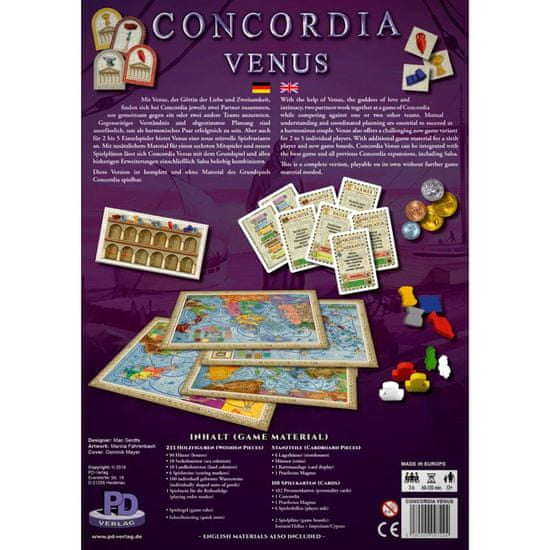 PDV družabna igra Concordia Venus angleška izdaja