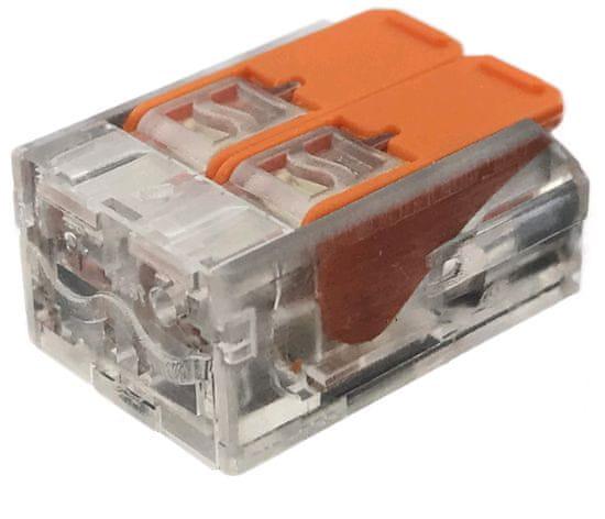 ENTAC 50x hitra sponka 2 pin 450V 32A 0.2-4mm2 trdi in mehki vodnik