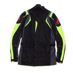 CLS MOTORCYCLE Racing bunda moto CORDURA black/gray/fluo veľkosť XL