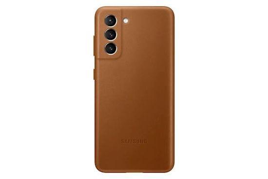 Samsung Galaxy S21 ovitek, usnjen, rjav