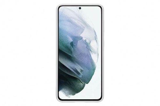 Samsung Galaxy S21 ovitek, silikonski, svetlo siv