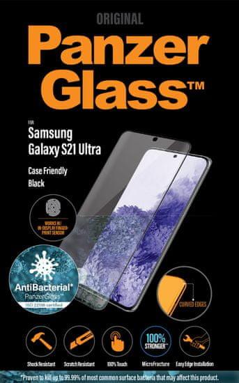 PanzerGlass Premium Antibacterial pre Samsung Galaxy S21 Ultra (FingerPrint Ready) 7258 - zánovné