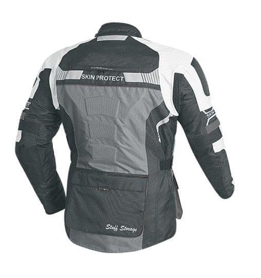 MAXX NF 2206 Textilní bunda dlouhá černošedobílá