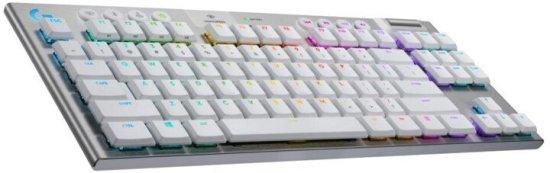 Logitech G915 TKL Lightspeed brezžična tipkovnica, GL Tactile, RGB, bela, US SLO g.