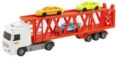 Teddies Kamión prepravník + 3 autá na zotrvačník so svetlom so zvukom