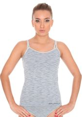 Brubeck Dámská košilka Fusion CM10110 : Velikosti - XL, Barvy - šedá melír