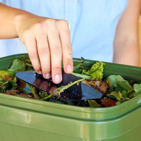 Skaza Bokashi Organko kompostnik, 16 l, olivno-bel + posip 1 kg