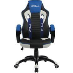Bytezone Racer Pro gamerski stol, črn, siv, moder