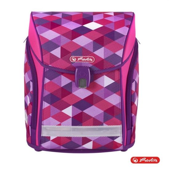 Herlitz šolska torba, midi, Pink Cubes, 32 x 38 x 22 cm