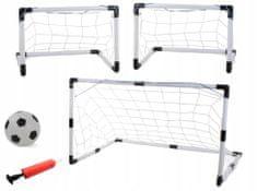 Nogometni gol 2v1, z žogo in tlačilko