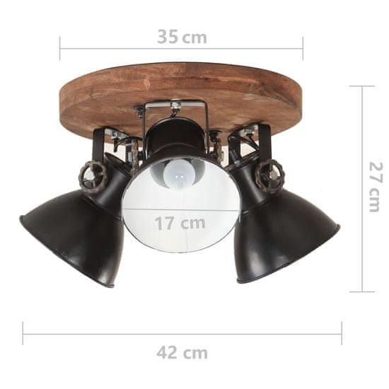 shumee Industrialna lampa sufitowa, 25 W, czarna, 42x27 cm, E27