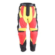 BOLDER 2065 Kalhoty Enduro červeno/žlutá velikost 2XL