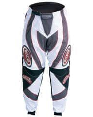 BOLDER 607 Kalhoty Motocross bílo/šedá s červenou velikost 36