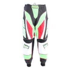BOLDER 922 Kalhoty Motocross zeleno/červená velikost 36