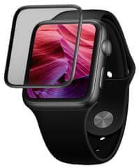 FIXED Ochranné tvrzené sklo 3D Full-Cover pro Apple Watch 44mm s aplikátorem, s lepením přes celý displej FIXG3D-434-BK, černé