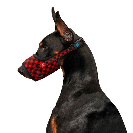 Wau Dog Nylonový náhubek pro psa nastavitelný TARTAN