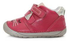D-D-step 070-866A dekliški barefoot čevlji, usnjeni, roza, 21