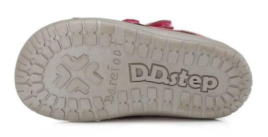 D-D-step 070-866A dekliški barefoot čevlji, usnjeni