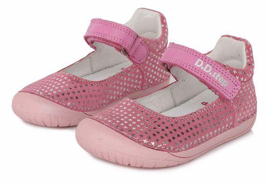 D-D-step 070-980A dekliški barefoot sandali, usnjeni