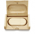 CTRL+C Owalny drewniany pendrive + pudelko KLON, 32 GB, USB 2.0