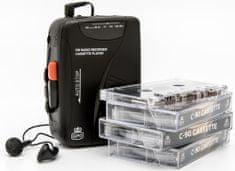GPO Retro Cassette Walkman, černá