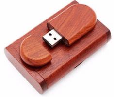 CTRL+C Owalny drewniany pendrive + pudelko CHERRY, 32 GB, USB 2.0