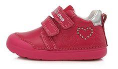 D-D-step 066-440B dekliški celoletni čevlji, usnjeni, roza, 23