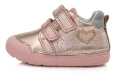 D-D-step 066-440 dekliški celoletni čevlji, usnjeni, roza, 20