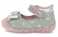 D-D-step 015-641B sandale za djevojčice, koža, sive, 19