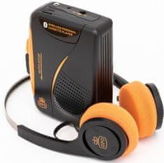 GPO Retro Cassette Walkman Bluetooth, čierna/oranžová