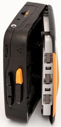 GPO Retro Cassette Walkman Bluetooth, černá/oranžová